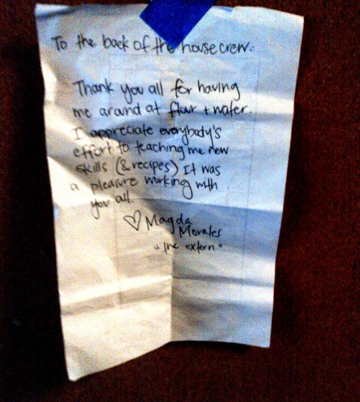 magda's note