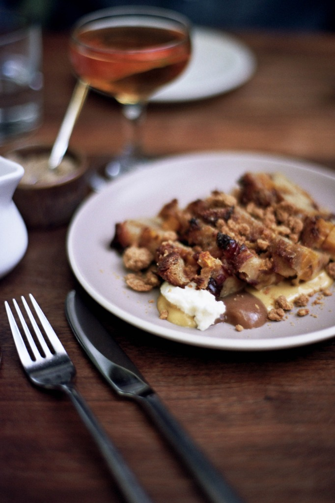 sweet caraway bread pudding, butternut squash, pinenut, ricotta