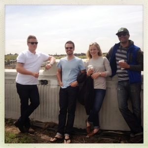 Chef Thomas, Ryan and Shannon visiting Brooklyn Grange earlier this year.