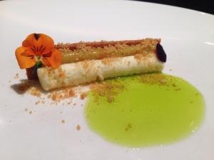 White chocolate. kiwi. nasturtium.