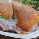 Salumi & provolone sandwich.