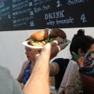 Porchetta sandwich.